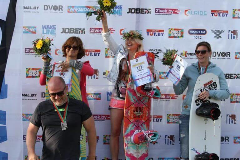 победительницы чемпионата по вейкборду