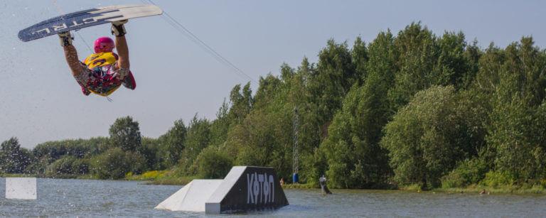 Вейк Лайн на Цнянском водохранилище